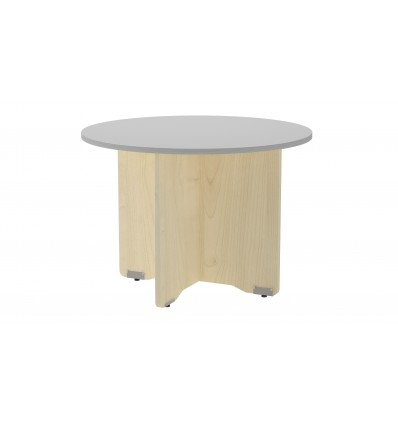 MEETING TABLE ROUND 100CM IN DIAMETER HEIGHT 72CM COLOR: PAW BEECH/GRAY BOARD