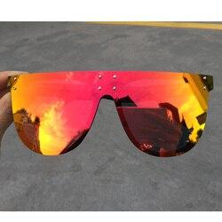Oversized Red Mirror Square Sunglasses Women 2020 Fashion Luxury Designer Cute Sexy Black Shades Big Sun Glasses For Men UV400