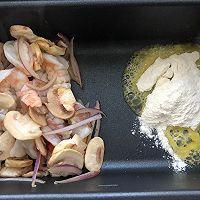 奶油虾仁蘑菇汤的做法图解4