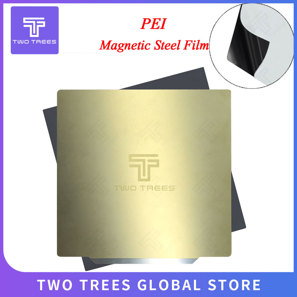 220x220 235x235 310x310mm Removal Spring Steel Sheet Pre-applied PEI Flex Magnetic Hot Sticker for CR10 Ender 3 Hot Bed Sapphire