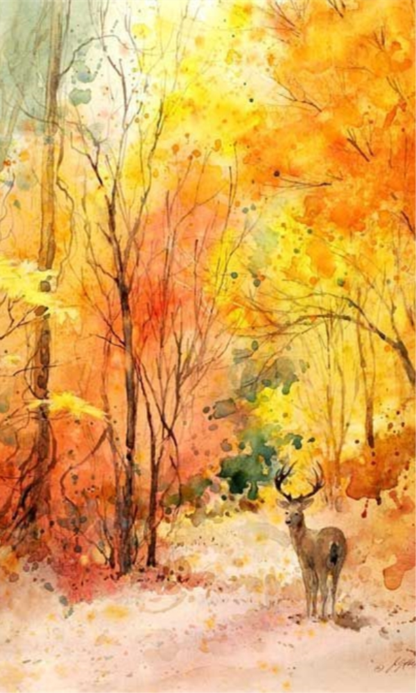 世界名画中的秋天