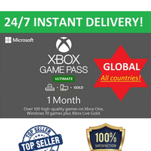 Xbox Live 1 MOIS GOLD & jeu Pass Ultime code (2x 14 jour) - INSTANT DELIVERY