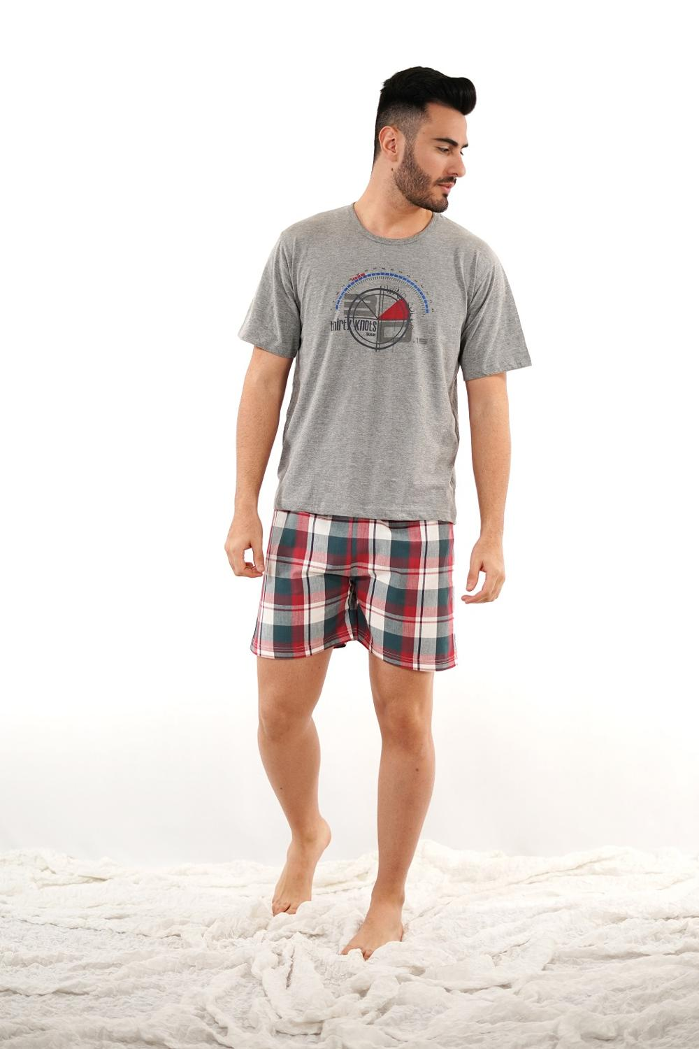 MAN'S Pajamas Summer Cotton Babelo, MAN'S Pajamas Short Sleeve And Short Pant
