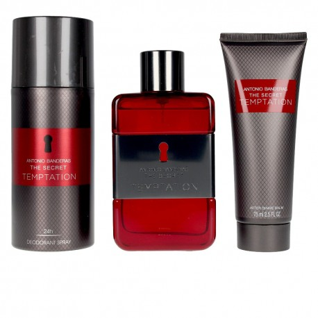 TEMPTATION THE SECRET EDT SPRAY 100ML + 50ML + AFTER SHAVE LOTION DEODORANT SPRAY 150ML