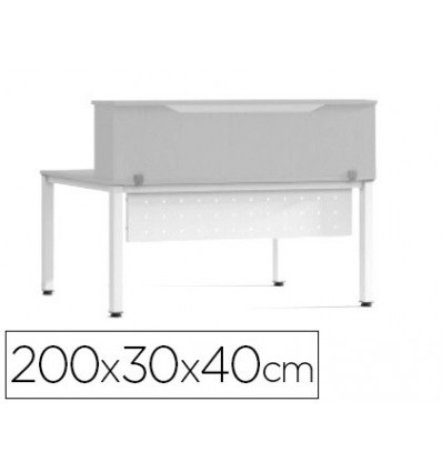 DESK LOFT ROCADA VALID FOR TABLES WORK EXECUTIVE METAL 200X30X40 CM FINISHING AN02 GRAY/ GRAY