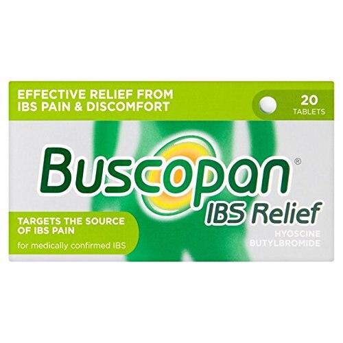 Buscopan, 20 Tablets Anti Ibs Spasmodic, Boehringer Ingelheim