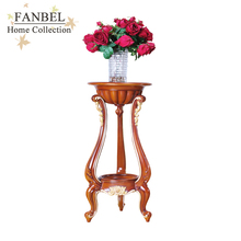 FANBEL furniture stand flowers classic walnut color with gold
