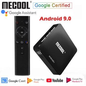 Mecool Google Certified Android 9.0 KM8 TV Box Amlogic S905X Quad Core HDR 4K H.265 Google Cast Voice Assistant ATV Set Top Box