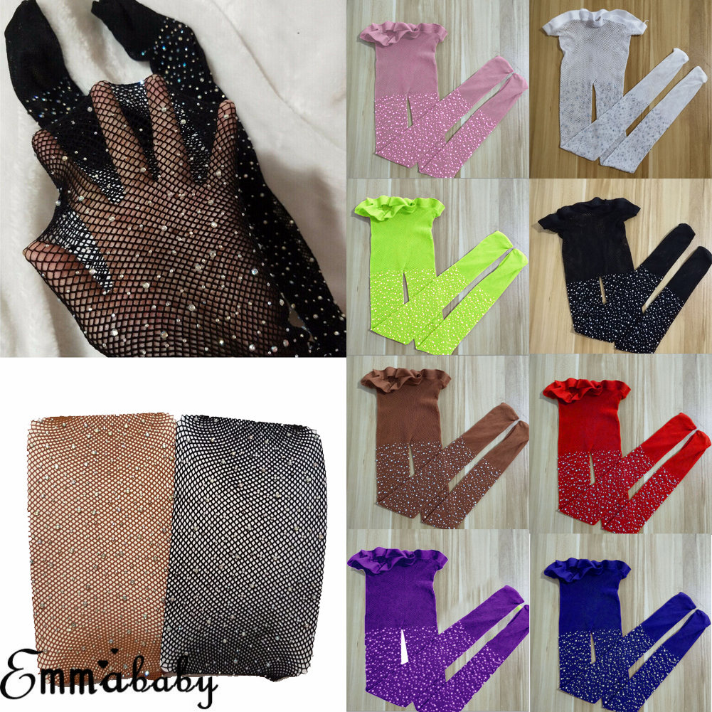 Kids Fishnet Tights Top Girls Sequin Children Mesh Fishnet Net Pattern Pantyhose Diamond Tights Stockings Summer Kids Tights