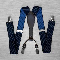 Bretelles pour pantalon large (3.5 cm, 4 clips, noir, bande) 54403