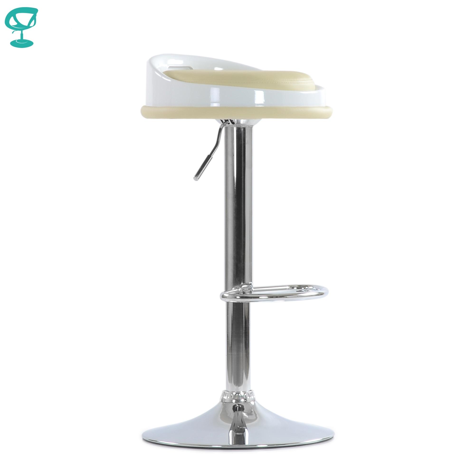 95727 Barneo N-49 Beige Eco-leather Kitchen Bar Stool High Chair Soft Seat Gas-lift Chair барной Rack броу Bar
