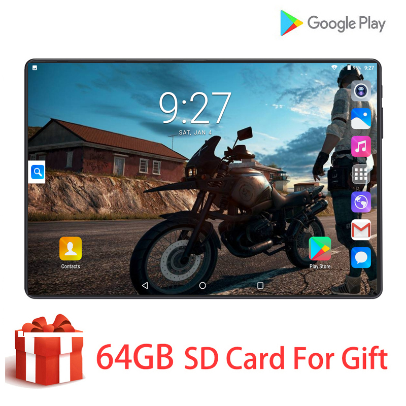 2020 New Global Version 9.0 Android Tablet 10.1 Inch 4G Phone Call Wifi GPS Bluetooth 6GB+128GB Tablets PC New Touch Gift Pack
