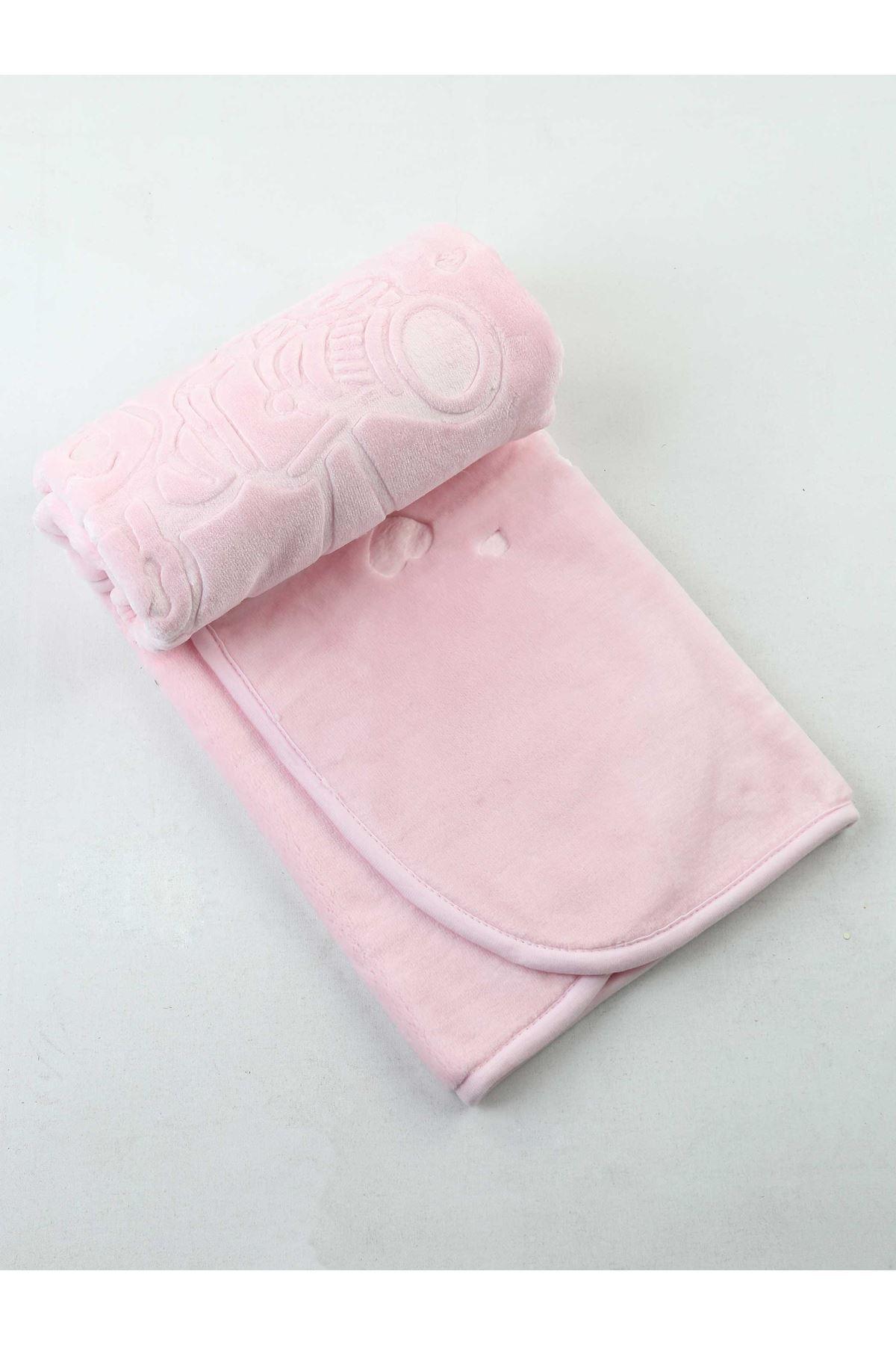 Pink Plush 120x100 Cm Girl Baby Blanket