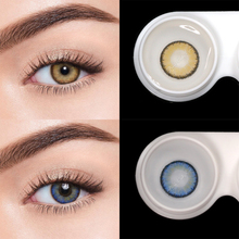 Fresh Lady 2pcs Colored Contact Lenses Eye Egypt Seriers Year Toss Contact Lenses Color Natural Looking Contact Lens for Eyes cheap Two Pieces 0 06-0 15 mm HEMA Beautiful Pupil 38 -42 Yearly 8 6 mm contact lenses for eyes lentes de contacto eye contact lenses colored