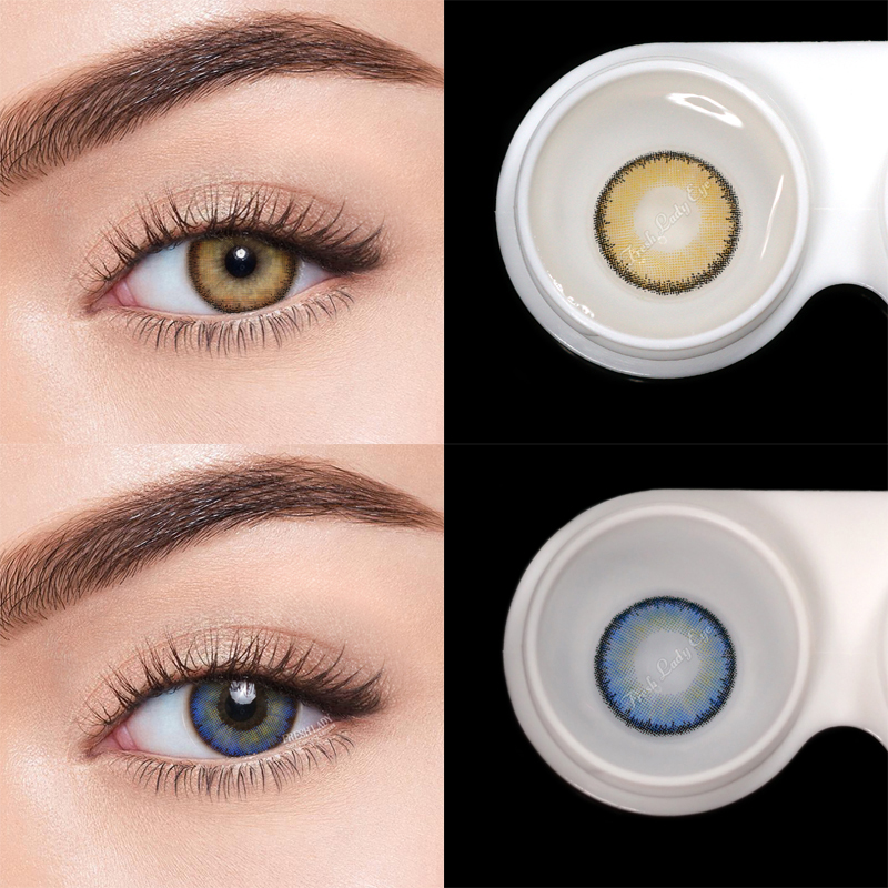 Fresh Lady 2pcs Colored Contact Lenses Eye Egypt Seriers Year Toss Contact Lenses Color Natural Looking Contact Lens For Eyes