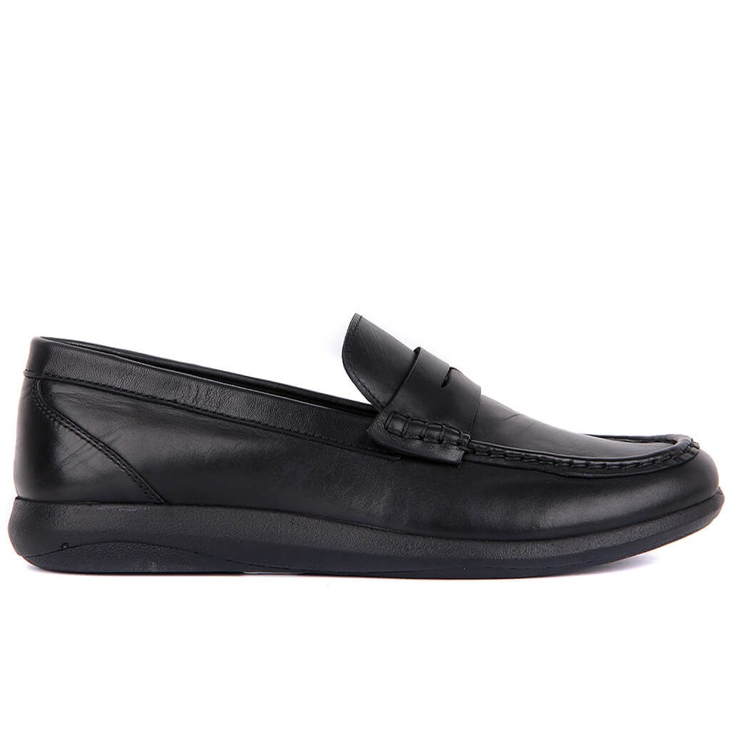 Sail-Lakers Black Men 'S Casual Leather Shoes
