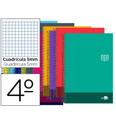 SPIRAL NOTEBOOK LEADERPAPER ROOM DISCOVER SOFTCOVER 80H 80GSM BOX 5MMCON MARGIN COLORS