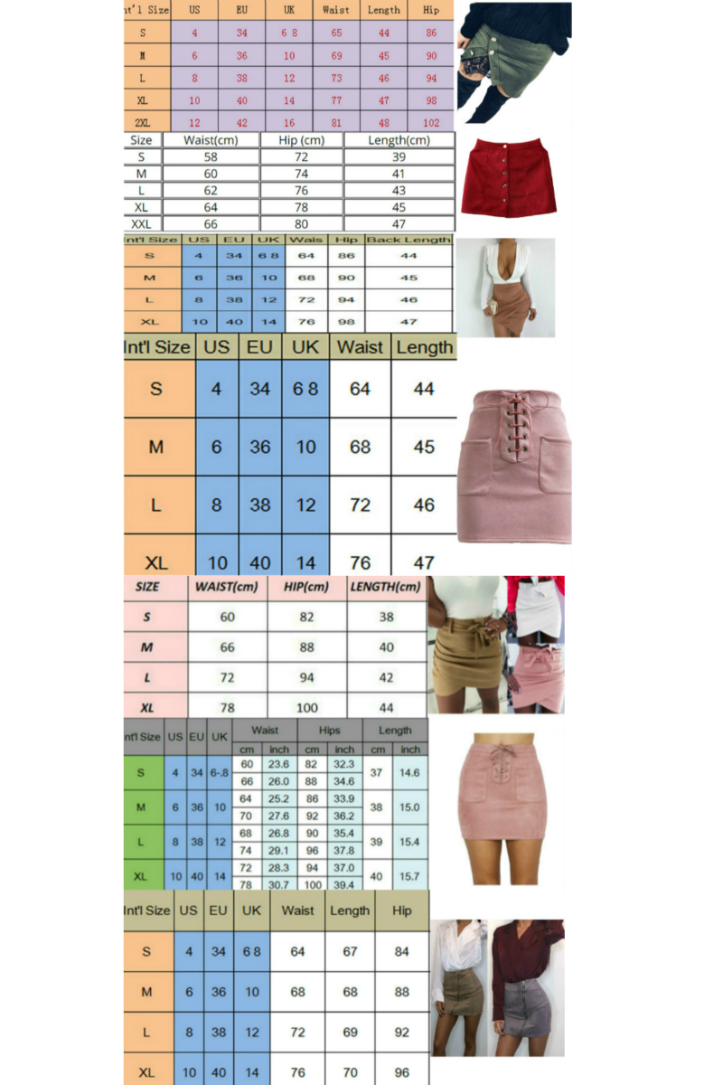 New fashion Women Ladies High Waist Pencil Skirts button lace patchwork sexy Bodycon Suede Leather split party casual Mini Skirt 6