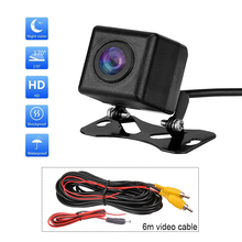 цена на HD Night Vision Car Rear View Camera 170 Degree Waterproof Auto Reversing Camera Backup Monitor Rearview Cameras With 6m Cable