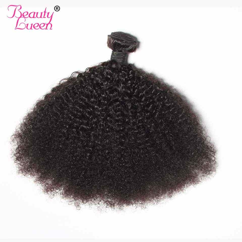 Hitam Mongolia Afro Kinky Curly Rambut 3/4 Bundel Penawaran Non Remy Tisu Bresilien Rambut Manusia Menenun Ekstensi untuk Mengepang