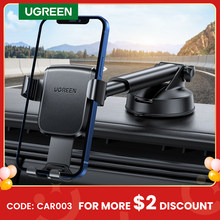 Ugreen-Soporte de teléfono para coche, soporte de gravedad con ventosa para Xiaomi, Samsung, iPhone 12