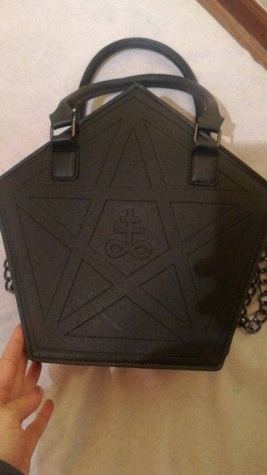 Pentagram Punk Gothic Star Handbag photo review