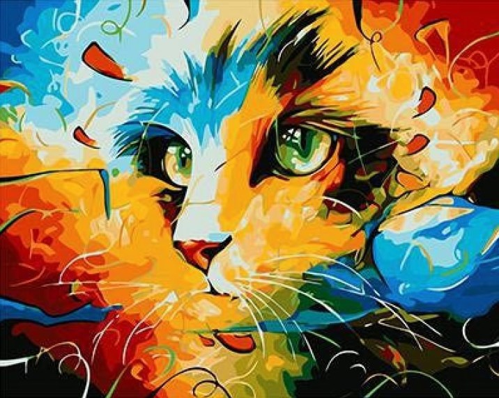 Painting By Numbers GX 9490 Air Cat 40*50