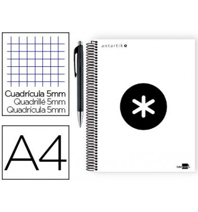 SPIRAL NOTEBOOK LEADERPAPER A4 MICRO ANTARTIK LINED TOP 120H 100G 5MM WHITE PROMO CARAN D ACHE