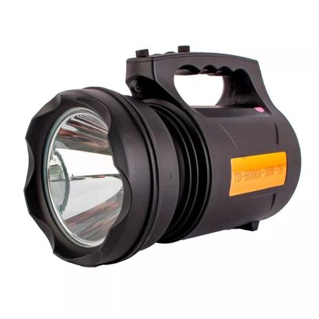 Holofote super potência led recharregável 30w td 6000a t6