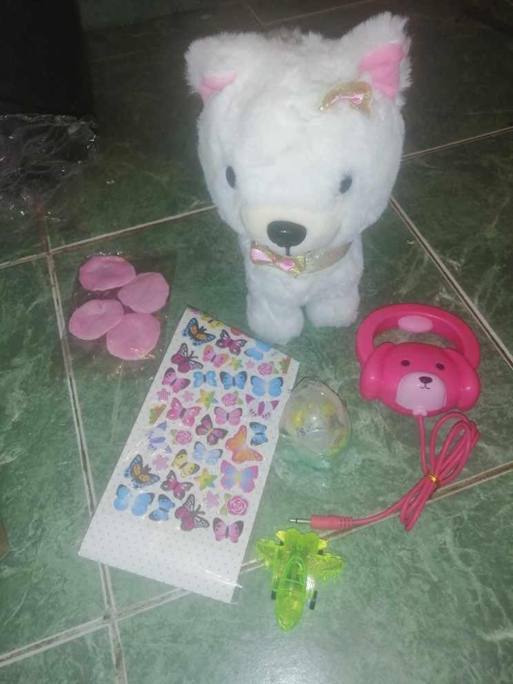 Отзывы о Робот-собачка с звуковым управлением, интерактивная электронная игрушка для собак, плюшевые игрушки для щенков, поводок для лай, плюшевые игрушки для детей, подарки на день рождения