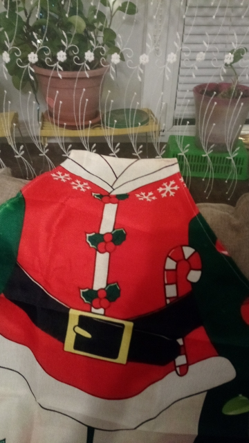 Santa Merry Christmas Kitchen Apron photo review