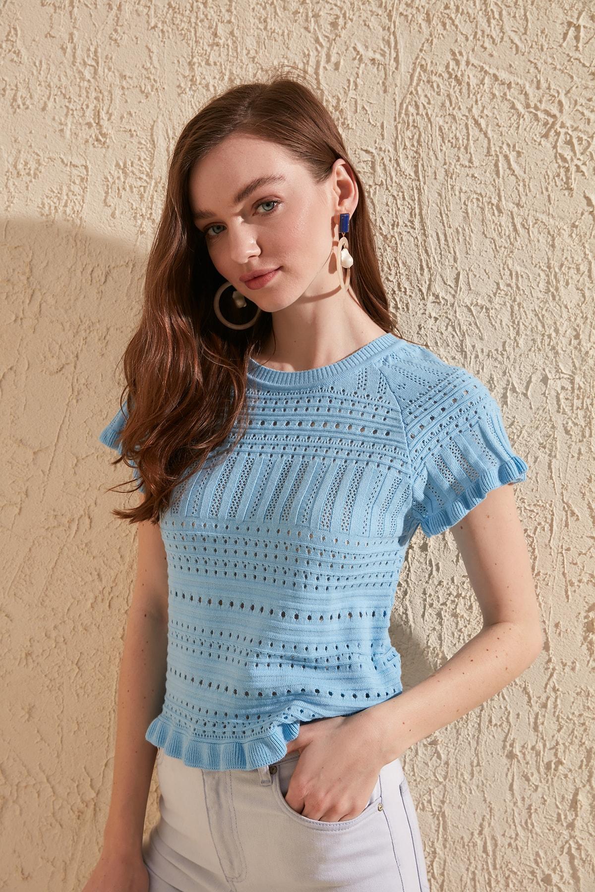 Trendyol Cellular Summery Knitwear TWOSS20BZ0120