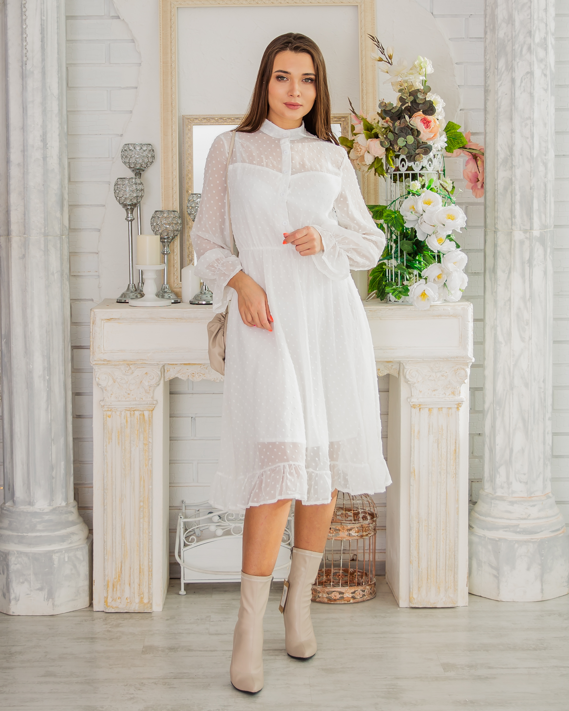 Dress With Elastic Waist Beautiful Casual Evening Shipping From Russia Российское Production Emberens