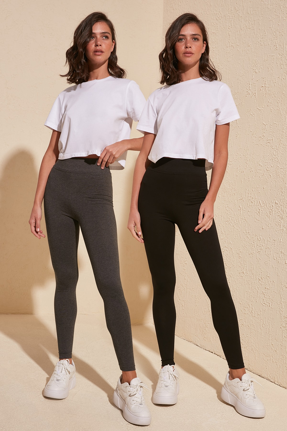 Trendyol 2'li Package Combed Knitted Leggings TWOSS20TA0120