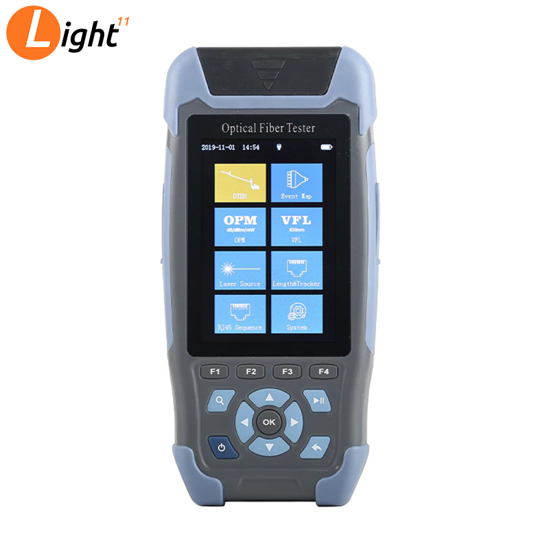 Mini Fiber OTDR Handheld With VFL OPM OLS+ RJ45 Ethernet Network Cable TestCable Sequence Distance Tracker