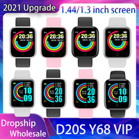 20PCS Smart Uhr Musik Steuerung Aktualisiert D20 S Y68 VIP Kunststoff Box Blutdruck Fitness Tracker Heart Rate Monitor smartwatch