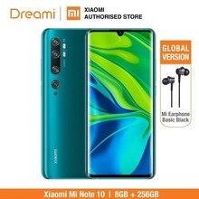 الإصدار العالمي من شاومي مي نوت 10 برو 256GB ROM 8GB RAM (العلامة التجارية الجديدة والرسمية Rom) ، نوت 10256 الهاتف الذكي المحمول