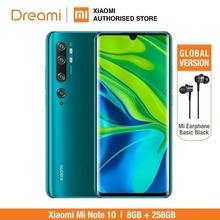 Global Version Xiaomi Mi Note 10 Pro 256GB ROM 8GB RAM (Brand New and Official Rom), note10256 Smartphone Mobile