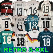 1990 1994 RETRO FOOTBALL SOCCER JERSEYS HOME AND AWAY KLINSMANN 18 MATTHAUS 10 CAMISA DE TIOME CAMISETA FUTBOL SHIRT 1992 1996