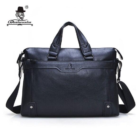 Men's Leather Briefcase Dioulaorentou D574 5