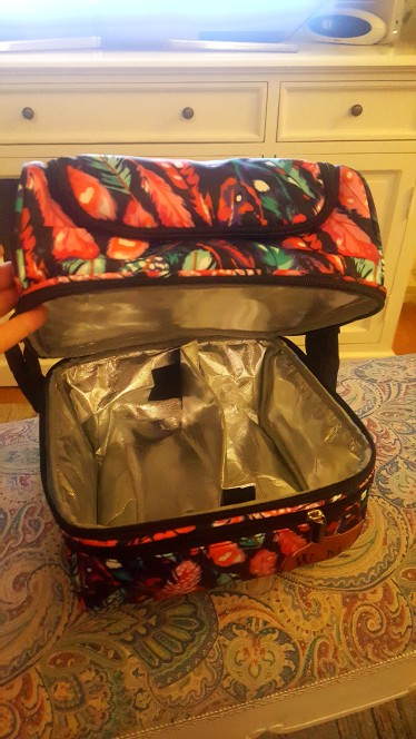 Sac Isotherme Repas Plumes Multicolores photo review