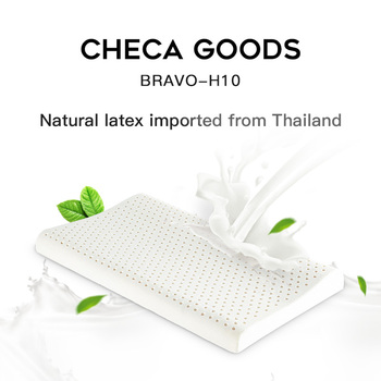 CHECA GOODS Latex Pillow Latex Foam Pillow with Machine Washable Organic Cotton Cover Medium Firm Natural Latex Firm Pillows