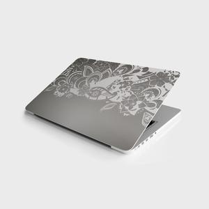 Наклейка мастер Серый Цветочный Универсальный стикер ноутбук Виниловая Наклейка Обложка для 10 12 13 14 15,4 15,6 16 17 19