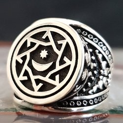 خاتم محسوسا من الفضة الإسترليني عيار 925