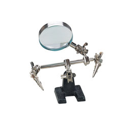Clamp for soldering third hand with magnifier X3 zd-10d
