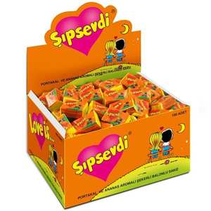 Gum Sipsevdi-Chewing for Girl Man Retro Kids Pineapple-Flavored Gift Orange 100pieces