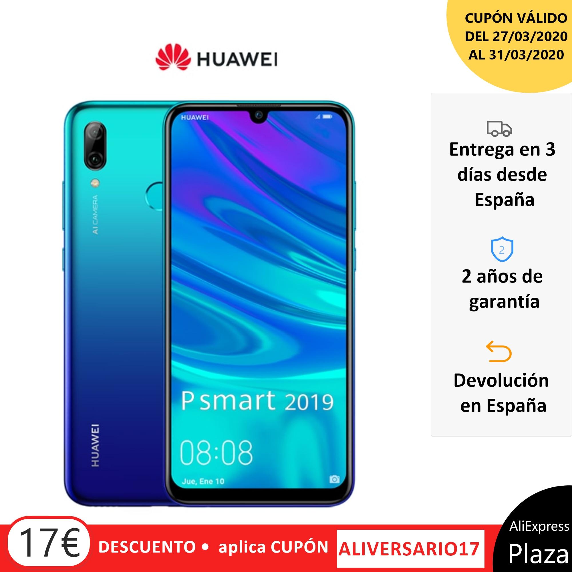 Huawei P Smart 2019 Smartphone(64GB ROM 3GB RAM Google, Android, Nuevo, Libre)[Teléfono Móvil Versión Española]Movil,Moviles