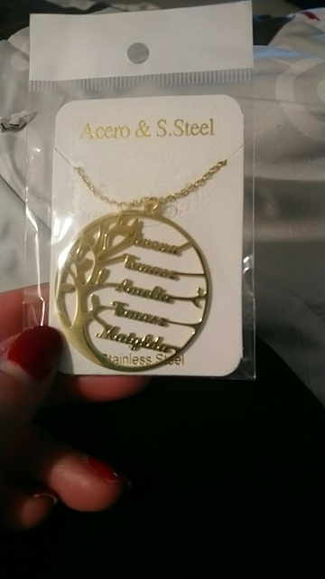 Collier arbre de vie prénom - personnalisable