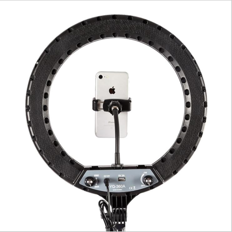 "U454c3943e321467ba842bc19de861810I 14"" LED Ring Light Photographic Selfie Ring Lighting with Stand for Smartphone Youtube Makeup Video Studio Tripod Ring Light"