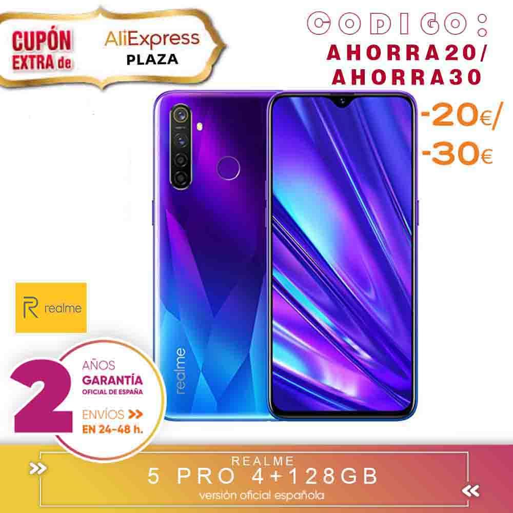 [Official Spanish Version Warranty] Realme 5 Pro Smartphone Mobile Tags, 6.3 ''4 Hard Gb, 8 Gb 128 Gb ROM Snapdragon Octa Core, Quad Camara